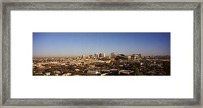 Buildings In A City, Phoenix, Arizona Framed Print by Panoramic Images