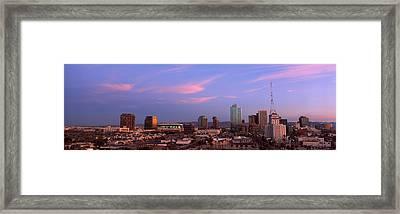 Buildings In A City, Phoenix, Maricopa Framed Print