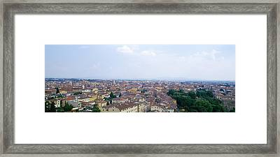 Buildings In A City, Pisa, Tuscany Framed Print