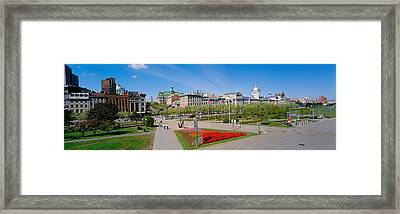 Buildings In A City, Place Jacques Framed Print by Panoramic Images