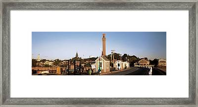 Buildings In A City, Provincetown, Cape Framed Print by Panoramic Images