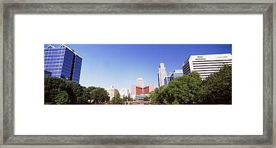 Buildings In A City, Qwest Building Framed Print by Panoramic Images
