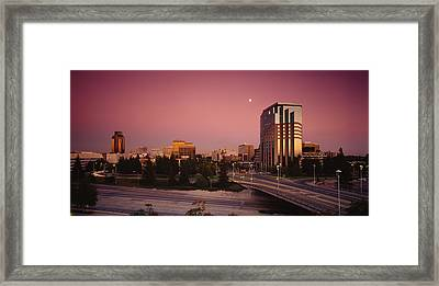 Buildings In A City, Sacramento Framed Print