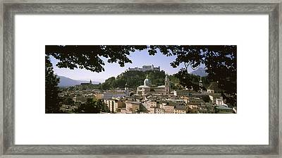 Buildings In A City, Salzburg, Austria Framed Print by Panoramic Images
