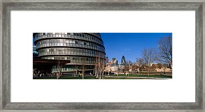 Buildings In A City, Sir Norman Foster Framed Print by Panoramic Images