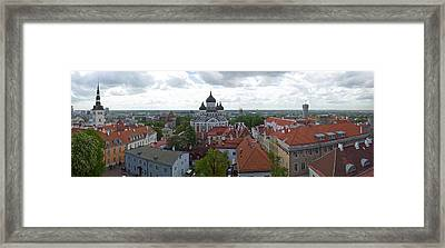 Buildings In A City, St. Nicholas Framed Print by Panoramic Images