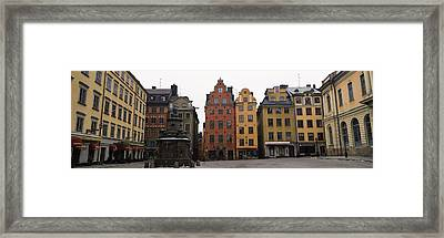 Buildings In A City, Stortorget, Gamla Framed Print by Panoramic Images