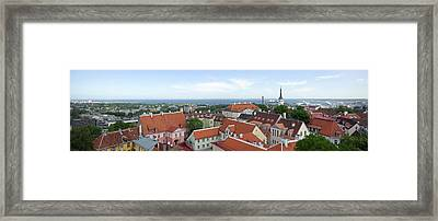Buildings In A City, Tallinn, Estonia Framed Print by Panoramic Images