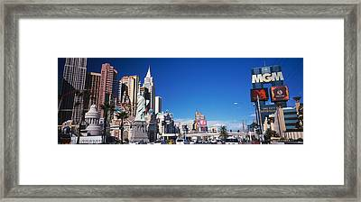 Buildings In A City, The Strip, Las Framed Print by Panoramic Images