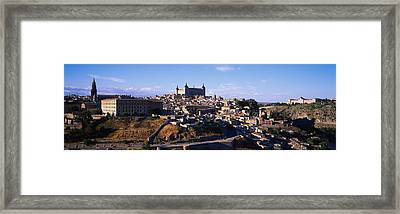 Buildings In A City, Toledo, Toledo Framed Print by Panoramic Images