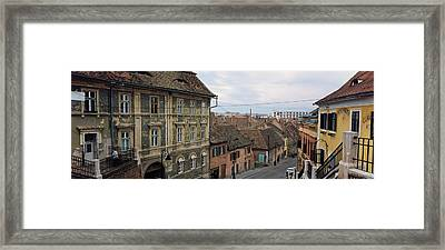 Buildings In A City, Town Center, Big Framed Print by Panoramic Images