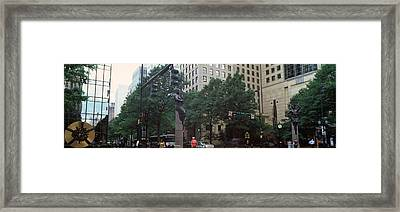 Buildings In A City, Trade And Tryon Framed Print