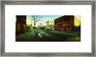 Buildings In A City, Williamsburg Framed Print by Panoramic Images