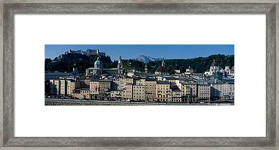 Buildings In A City With A Fortress Framed Print by Panoramic Images
