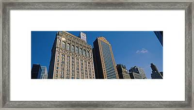 Buildings In A Downtown District, New Framed Print
