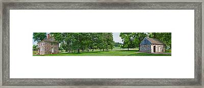 Buildings In A Farm, Washingtons Framed Print
