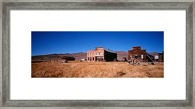 Buildings In A Ghost Town, Bodie Ghost Framed Print