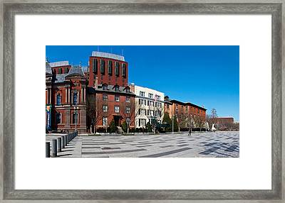 Buildings In A Row At Lafayette Square Framed Print