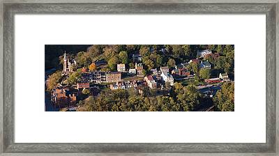Buildings In A Town, Harpers Ferry Framed Print by Panoramic Images