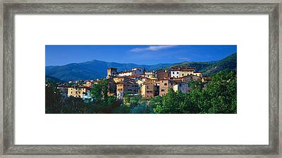 Buildings In A Town, Loro Ciuffenna Framed Print by Panoramic Images
