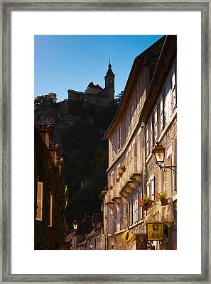 Buildings In A Town, Rocamadour, Lot Framed Print by Panoramic Images