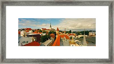 Buildings In A Town, Tallinn, Estonia Framed Print by Panoramic Images