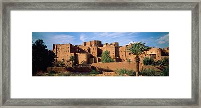 Buildings In A Village, Ait Benhaddou Framed Print