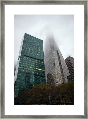 Buildings In Bryant Square Ny Framed Print by Denise Thompson