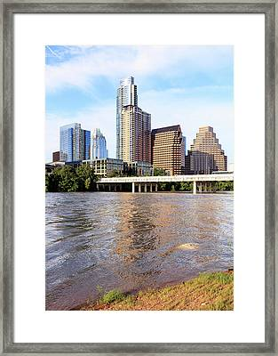 Buildings In Downtown Austin, Texas, Usa Framed Print by Panoramic Images