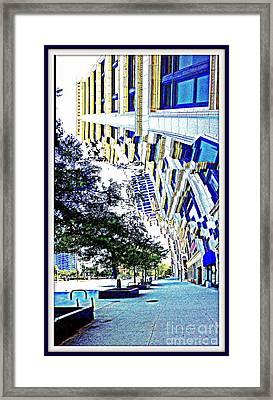 Buildings In Flux Framed Print by Scott Dixon