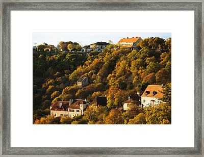 Buildings In Lhospitalet Village Framed Print by Panoramic Images