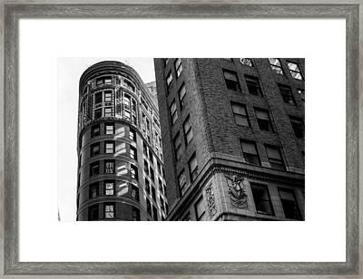 Buildings In New York Framed Print