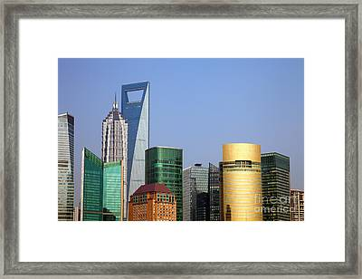 Buildings In Shanghai Pudong Framed Print by Fototrav Print