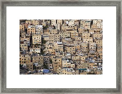 Buildings In The City Of Amman Jordan Framed Print by Robert Preston
