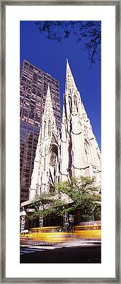 Buildings In The City, St. Patricks Framed Print by Panoramic Images