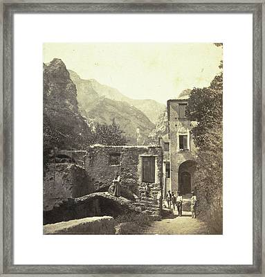 Buildings In The Valle Dei Molini, Amalfi Framed Print by Artokoloro