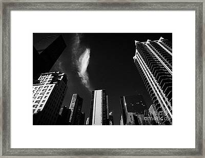 Buildings In Turtle Bay Including Sterling Plaza Condominiums 2nd Avenue And 49th Street New York Framed Print by Joe Fox