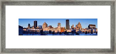 Buildings In Winter, Montreal, Quebec Framed Print by Panoramic Images