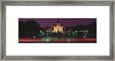 Buildings Lit Up At Night, Jackson Framed Print by Panoramic Images