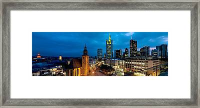 Buildings Lit Up At Night, St Framed Print by Panoramic Images