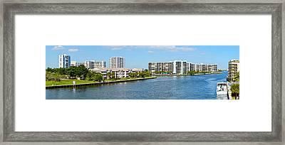 Buildings On Intracoastal Waterway Framed Print