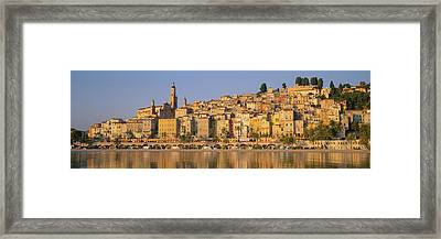Buildings On The Waterfront, Eglise Framed Print