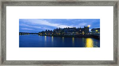 Buildings On The Waterfront, Inverness Framed Print by Panoramic Images