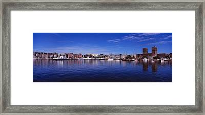 Buildings On The Waterfront, Oslo Framed Print by Panoramic Images