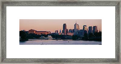 Buildings On The Waterfront Framed Print by Panoramic Images