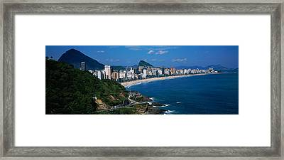 Buildings On The Waterfront, Rio De Framed Print by Panoramic Images