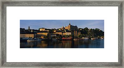 Buildings On The Waterfront, Stockholm Framed Print by Panoramic Images