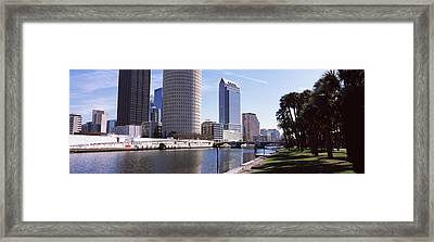 Buildings Viewed From The Riverside Framed Print by Panoramic Images
