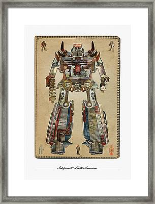 Built American Tough Robot No.2 Framed Print by Jeff Steed