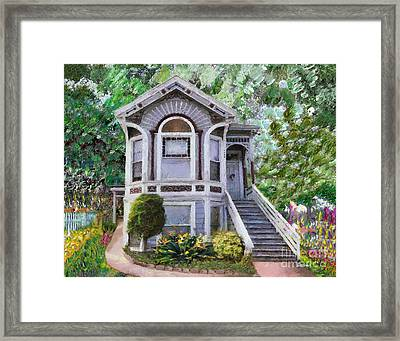 Alameda 1895 Queen Anne Framed Print by Linda Weinstock